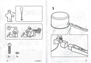 IKEA ANNONS 組み立て図