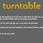残念 turntable アメリカ以外からの利用を制限