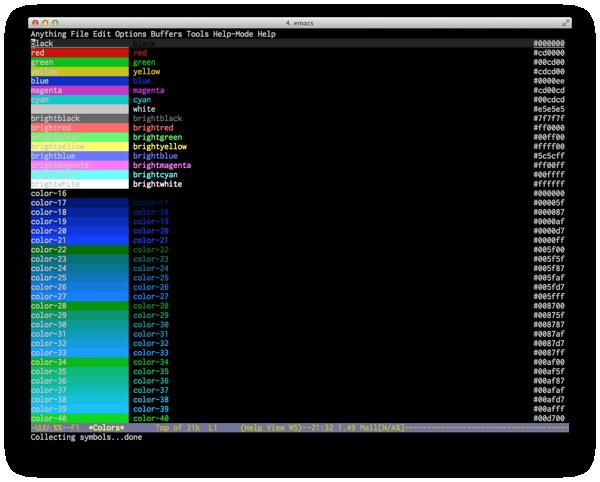 Emacs 256 colors