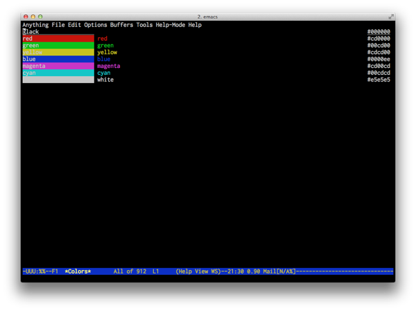 Emacs 8colors