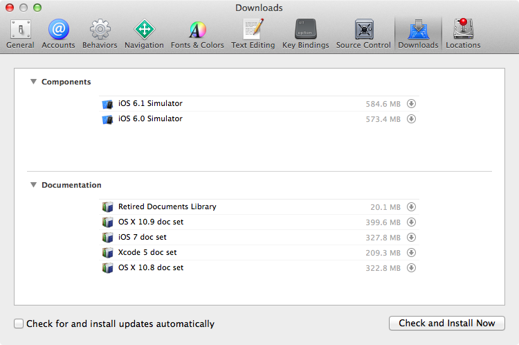 xcode-downloads