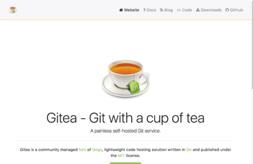 Gittea top page