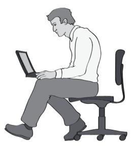 Improper laptop position